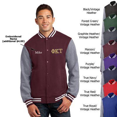 Fraternity Embroidered Varsity Letterman Jacket  #fraternity #clothing #gogreek #somethinggreek