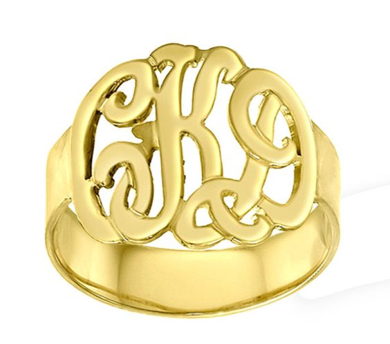 I love this!!  Monogrammed Ring - $62.00