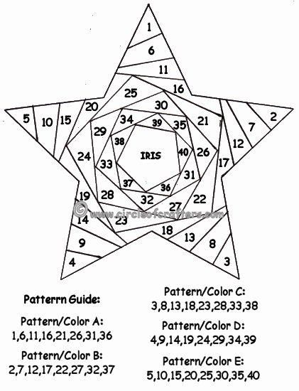 Trabajo artesanal: iris procedimiento de plegado y patrones-starpattern.gif