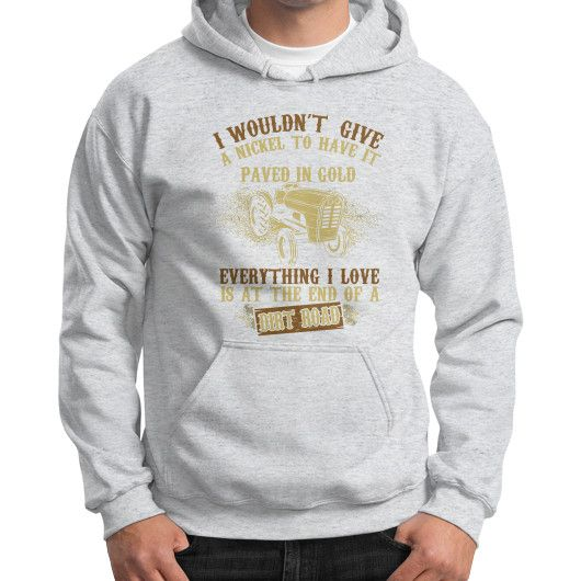 Farmer EVENTHING I LOVE Gildan Hoodie (on man)