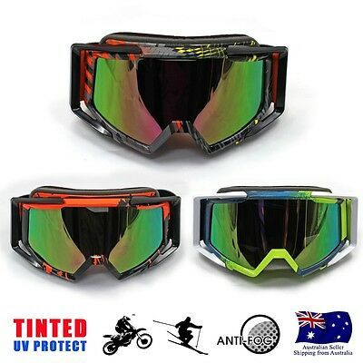 Ad Ebay Link Adults Snow Snowmobile Snowboard Ski Dirt Bike Goggles Tinted Changeable Lens Au Snowboard Goggles