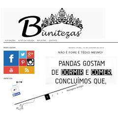 CLIENTE: BLOG PESSOAL/ BUNITEZAS Resumo: Blogger pessoal sem descrição especifica.  Site: www.bunitezas.blogspot.com.br