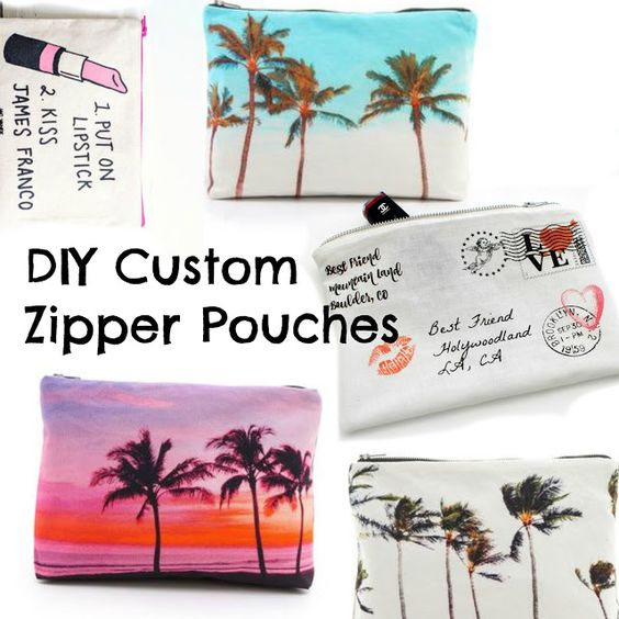 DIY Custom Zipper Pouch. (Trash To Couture)