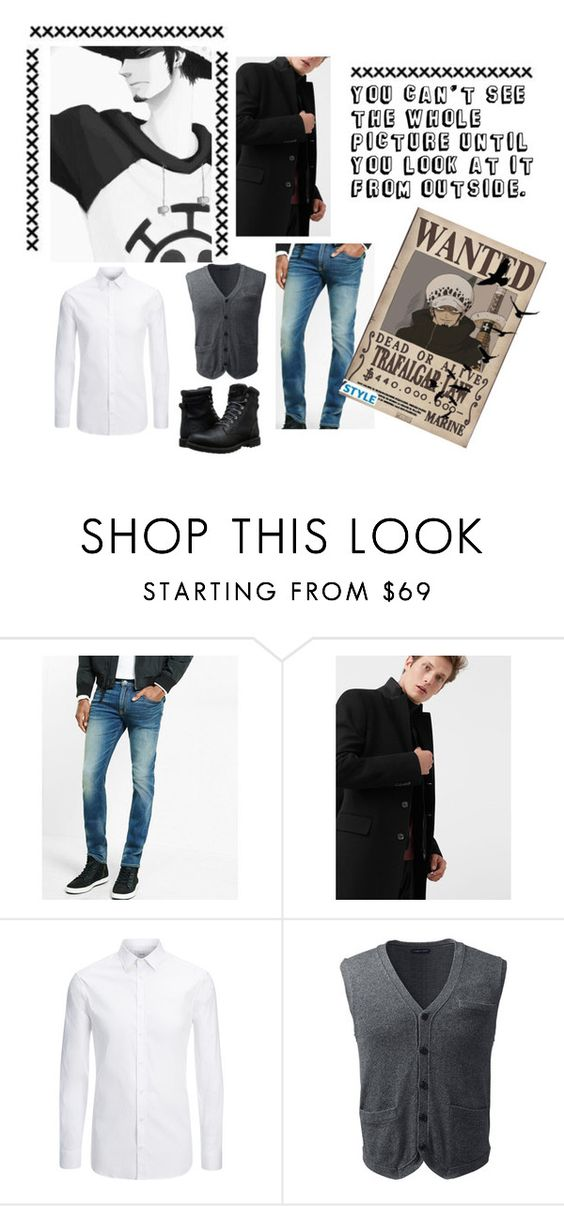 """Trafalgar D.Water Law"" by j4wahir ❤ liked on Polyvore featuring Express, MANGO, Joseph, Lands' End, Timberland, men's fashion and menswear"
