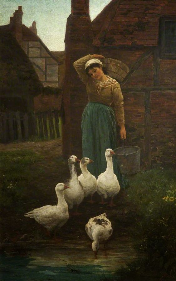 Michaelmess Geese : Alice Mary Havers (1850-1890)