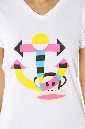 Color block monkey sleep tee