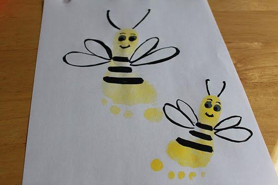 Footprint Bumblebees- pre-school ideas
