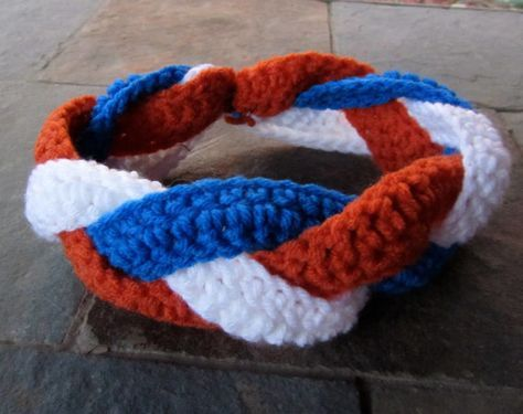 Bronco's headband by Beanieyourself on Etsy