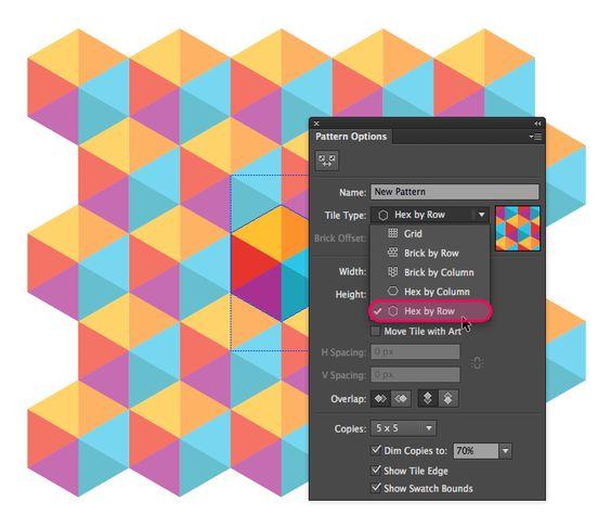 Creating geometric patterns in Illustrator | Veerle's blog 3.0 (Colour scheme a bit garish for my liking) JK