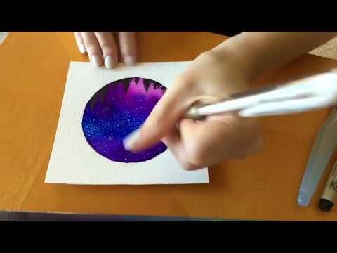 Watercolor Galaxy With Tombow Brush Pens Youtube Tombow Brush