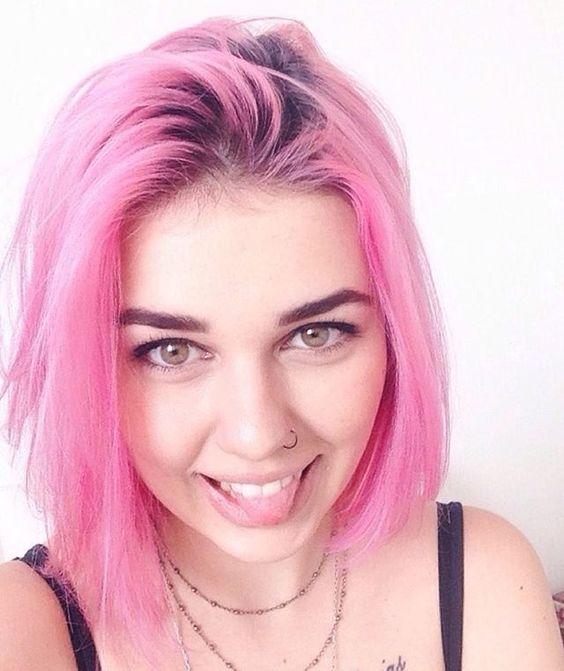 #novoarte #pinkhair #cabelorosa #cabeloscoloridos by @anaclaudia_bispo