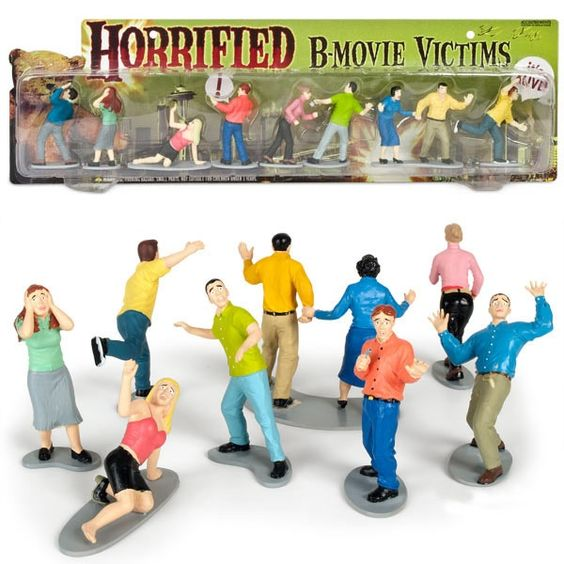Horrified B-Movie Victims Figure Set
