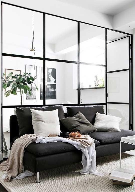 Schwarzes Sofa 50 Modelle Mit Fotos Und Wie Dekorieren Neu Dekoration Stile Innenarchitektur Wohnzimmer Schwarzes Sofa Innenarchitektur