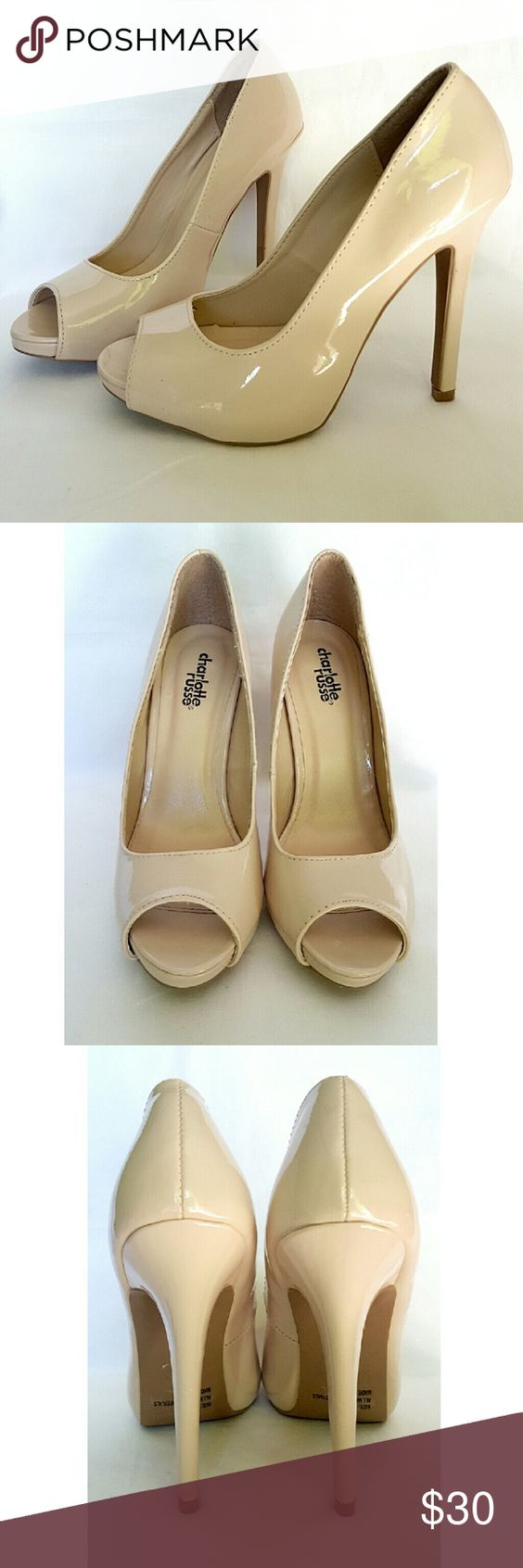 """Charlotte Russe Pumps Beautiful nude peep toe pumps. All mankind made materials. 4.5"""" heel with 0.5"""" platform. Brand new without box. Never worn. Charlotte Russe Shoes Heels"""