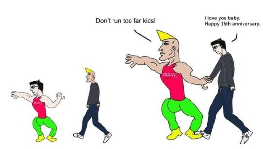 Virgin Vs Chad Funny Memes Happy 15th Anniversary I M Not Like Other Girls