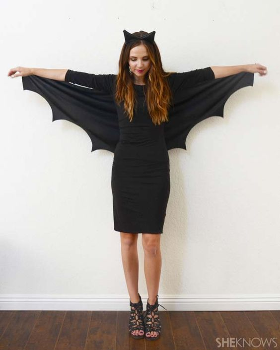 Best Last Minute DIY Halloween Costume Ideas - Bat Halloween Costume - Do It Yourself Costumes for Teens, Teenagers, Tweens, Teenage Boys and Girls, Friends. Fun, Clever, Cheap and Creative Costumes that Are Easy To Make. Step by Step Tutorials and Instructions http://diyprojectsforteens.com/last-minute-diy-halloween-costumes: