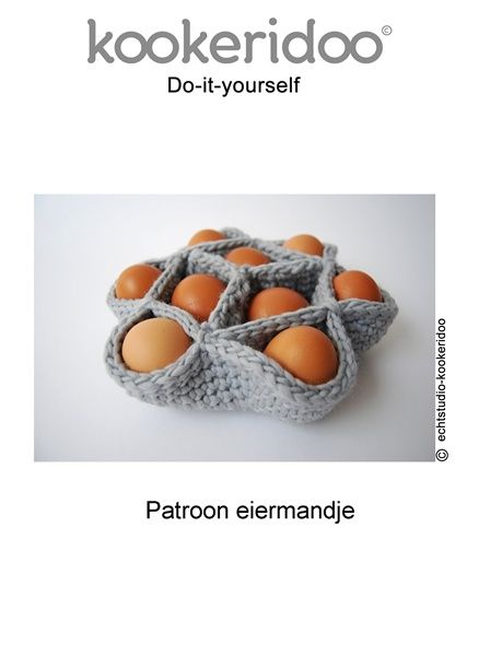 Paasmandje patroon. Eggbasket tutorial in Dutch.