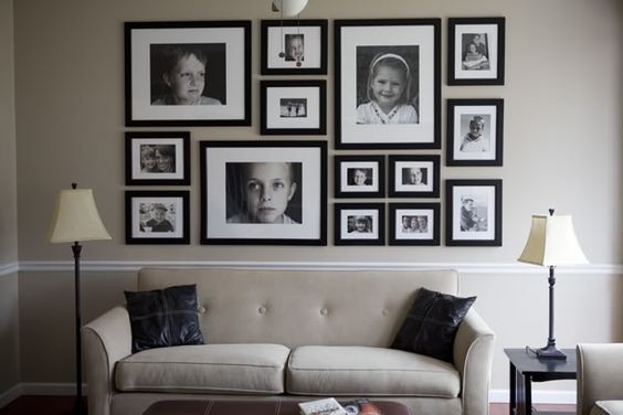 gallery wall with dimensions!!