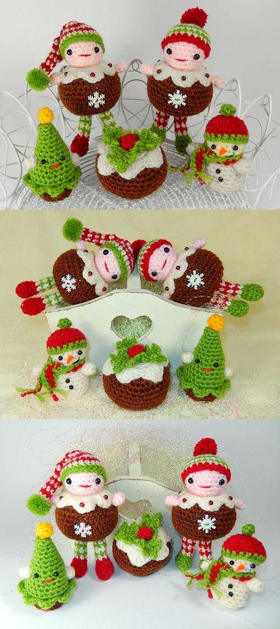 Christmas Pudding People Amigurumi Pattern