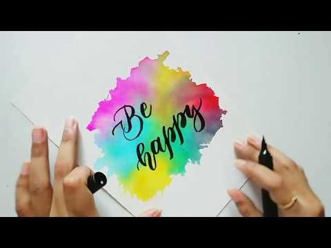 Easy Watercolor Background And Calligraphy Tutorial For Beginners