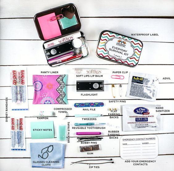 Women's Everyday Survival Kit Emergency Kit by coastalkitco