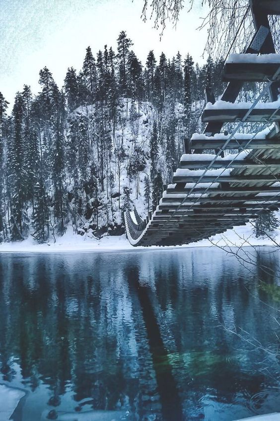 Frozen bridge ☄ #landscape