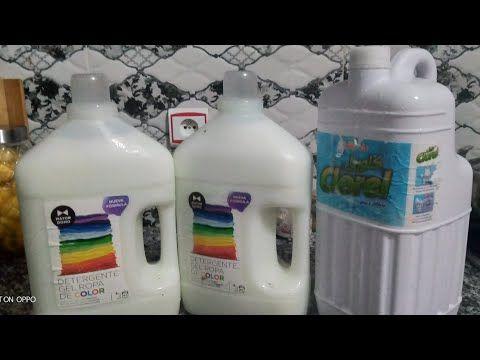 طريقتي في صنع عشرة لتر من سائل غسل الملابس بصابونة طبيعية بياض ورائحة وليونة Youtube Spray Bottle Shampoo Bottle Spray