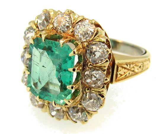 21756 - Emerald & Diamond Ring - SOLD