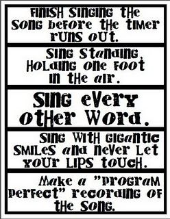 fun ways to sing songs