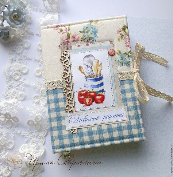 """Купить Кулинарная книга """"Помидорки"""" - голубой, кулинарный блокнот, кулинарная книга, кухня, блокнот"""