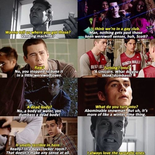 TEEN WOLF ❤️ yeah totally love the sarcastic one :P
