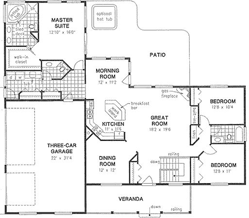 3 car garage car garage and family home plans on pinterest 3 family house plans