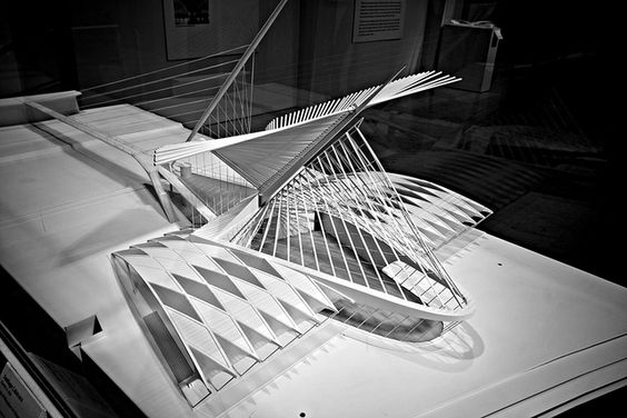 Milwaukee Art Museum Architectural Model  #conceptualarchitecturalmodels Pinned by www.modlar.com