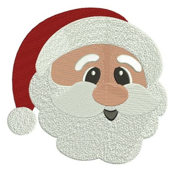Santa Filled Christmas Machine Embroidery Digitized Design Pattern #christmas #embroidery #applique #santa