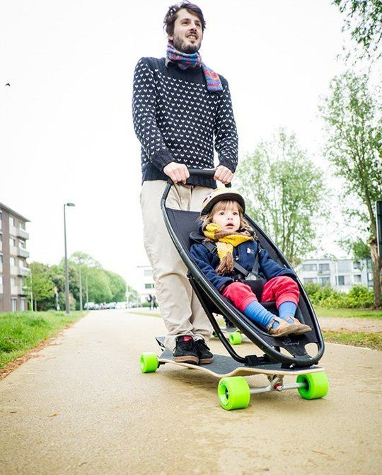 Are You Cool Enough for this Longboard? Babies and Nursery - designer kinderwagen longboard quinny