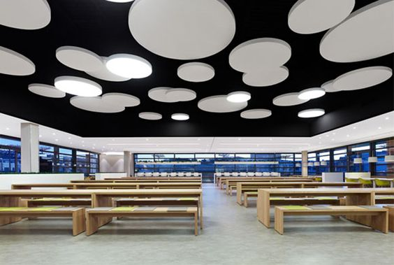New design for the canteen of a department store in Stuttgart.