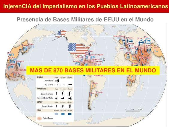 Presencia de Bases Militares de EEUU en el Mundo<br />MAS DE 870 BASES MILITARES EN EL MUNDO<br />