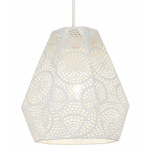 House Additions Fretwork 1 Light Geometric Pendant Glass Pendant