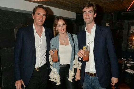 South Kensington 12th June 2015 Geisha at Ramusake launch  Otis Ferry, Lady Alice Manners and Tom Faber