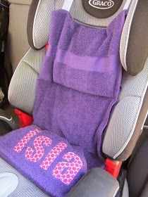 Five Crafty Sisters: Allison: Car Seat Cooler Tutorial