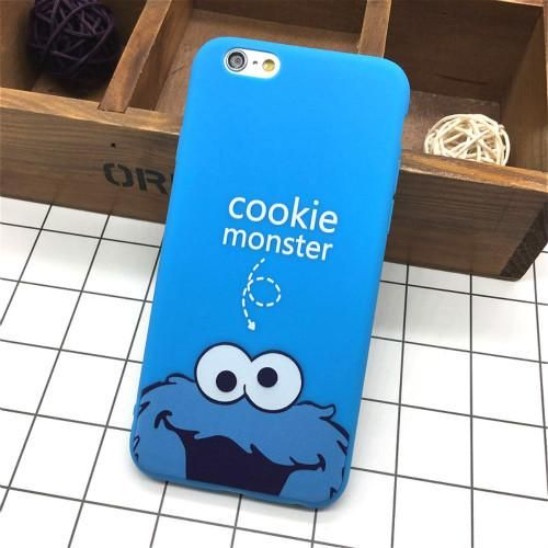 Cute Cookie Monster Soft Cover For IPhone 6 6s 5 5s SE