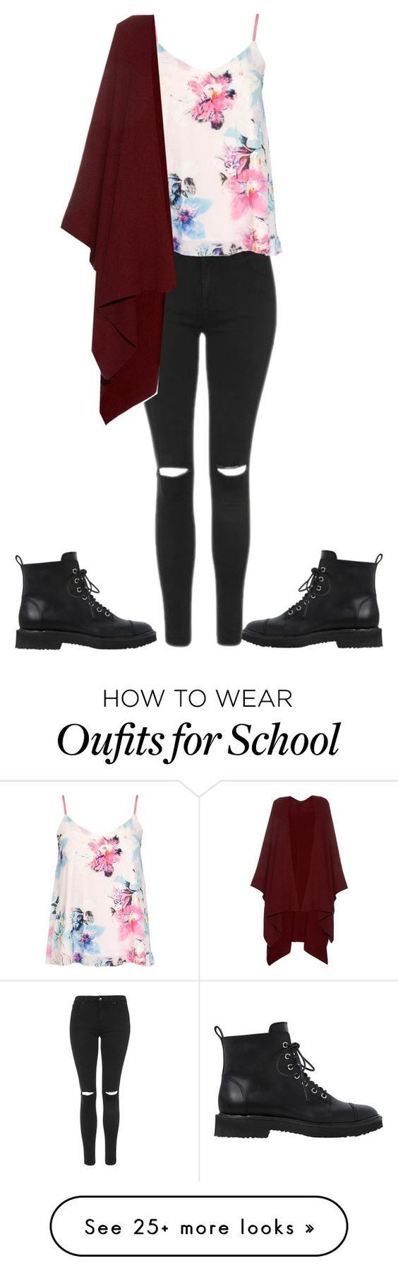 """7. School weather"" by kirath on Polyvore featuring Topshop, Dorothy Perkins, The Row and Giuseppe Zanotti"