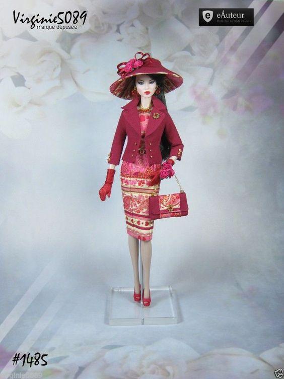 Tenue Outfit Accessoires Pour Fashion Royalty Barbie Silkstone Vintage 1485 | eBay