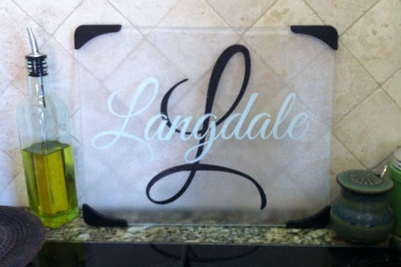 Personalized Glass Cutting Board.... in the future of course!!!
