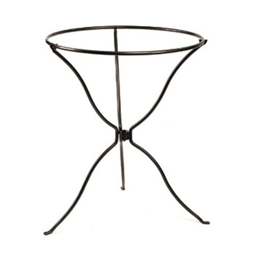 tripod wrought iron ring stand achla designs accessories bird baths outdoor achla designs wrought iron