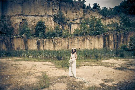 Bohemian Braut Haarkranz, Schleierkraut, Haarband Fotografie: www.mangatter.de Styling: www.brautstyling-dresden.de