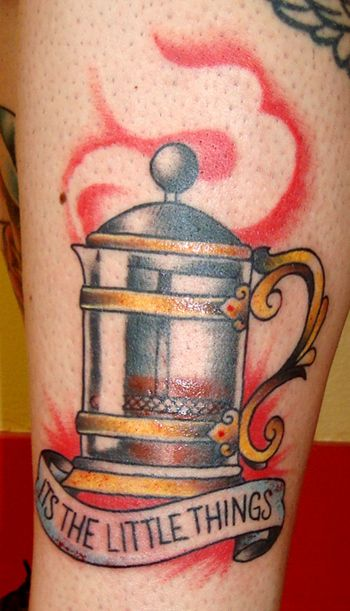 For the Francophile / 23 Tattoos For Coffee Lovers (via BuzzFeed)