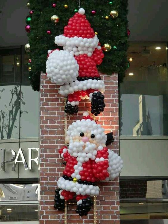 decorazioni natalizie di palloncini
