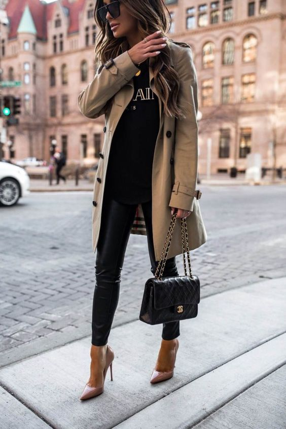 Blogger Mia Mia Mine dishes out her tips on how to save for your first designer handbag {Mia Mia Mine wears burberry trench coat, chanel flap bag, christian louboutin heels}