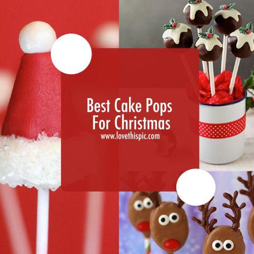 Best Cake Pops For Christmas christmas cake pops christmas treats christmas dessert christmas cake pops
